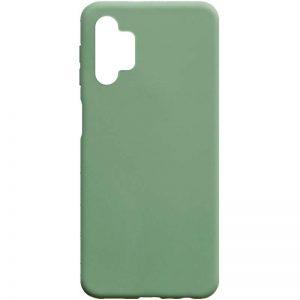 Матовый силиконовый TPU чехол для Samsung Galaxy A32 5G – Фисташковый
