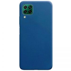 Матовый силиконовый TPU чехол для Huawei P40 Lite – Синий