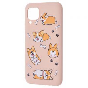 TPU чехол WAVE Fancy Case для Huawei P40 lite – Corgi / Pink sand