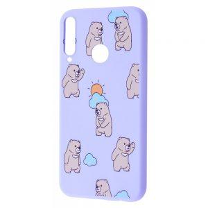 TPU чехол WAVE Fancy Case для Huawei P40 Lite E / Y7P (2020) – Cute bears / Light purple