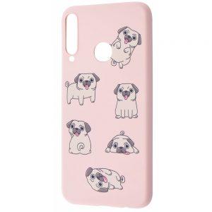 TPU чехол WAVE Fancy Case для Huawei P40 Lite E / Y7P (2020) – Pug / Pink sand
