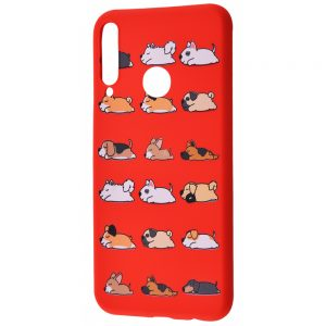 TPU чехол WAVE Fancy Case для Huawei P40 Lite E / Y7P (2020) – Sleeping dogs / Red
