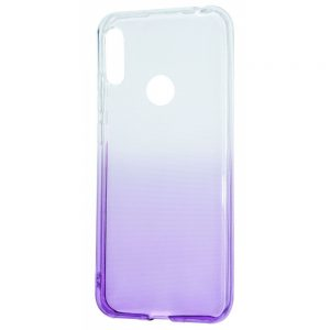 Чехол TPU Gradient Design для Huawei Y6s / Y6 2019 / Honor 8A – White / purple