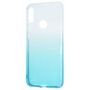Чехол TPU Gradient Design для Huawei Y6s / Y6 2019 / Honor 8A – White / turquoise