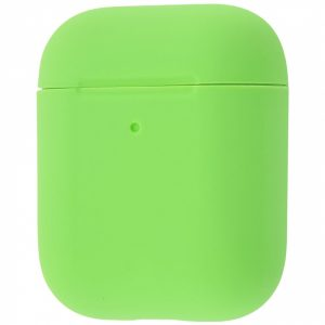 Чехол для наушников Silicone Case Slim для Apple Airpods 2 – Green