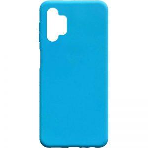 Матовый силиконовый TPU чехол для Samsung Galaxy A32 5G – Голубой