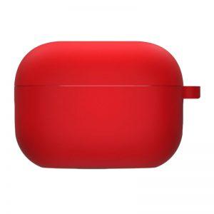 Силиконовый чехол для наушников с микрофиброй для Apple Airpods Pro – Красный / Red