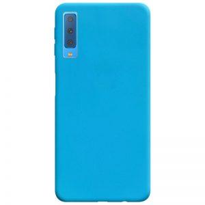 Матовый силиконовый TPU чехол на Samsung A750 Galaxy A7 (2018) – Голубой