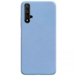 Матовый силиконовый TPU чехол для Huawei Honor 20 / Nova 5T – Голубой / Lilac Blue