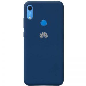 Оригинальный чехол Silicone Cover 360 с микрофиброй для Huawei Y6 / Honor 8A / Y6s 2019 – Темно-синий / Midnight blue
