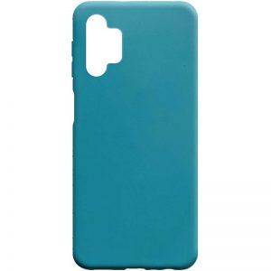 Матовый силиконовый TPU чехол для Samsung Galaxy A32 5G – Синий / Powder Blue