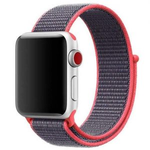 Ремешок Nylon для Apple Watch 38 mm / 40 mm / SE 40 mm – Арбузный / Watermelon red