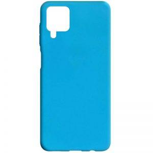 Матовый силиконовый TPU чехол для Samsung Galaxy A12 – Голубой