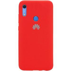 Оригинальный чехол Silicone Cover 360 с микрофиброй для Huawei Y6 / Honor 8A / Y6s 2019 – Красный / Red