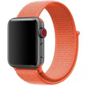 Ремешок Nylon для Apple Watch 38 mm / 40 mm / SE 40 mm – Оранжевый / Orange