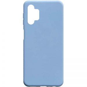 Матовый силиконовый TPU чехол для Samsung Galaxy A32 5G – Голубой / Lilac Blue