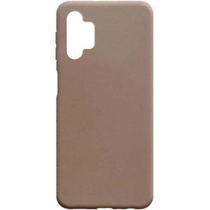 Матовый силиконовый TPU чехол для Samsung Galaxy A32 5G – Коричневый