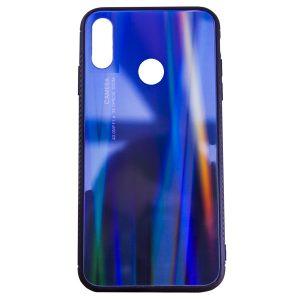 TPU+Glass чехол Gradient Glass с градиентом для Huawei Y9 (2019) / Honor 8x – Фиолетовый / Черный