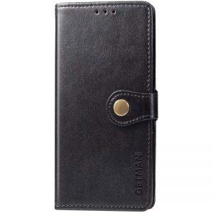 Кожаный чехол-книжка GETMAN Gallant для Samsung Galaxy A72 – Черный