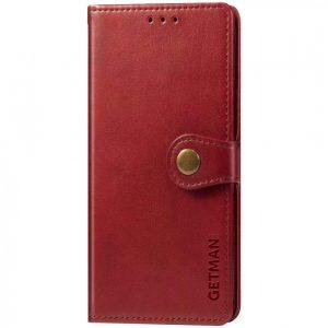 Кожаный чехол-книжка GETMAN Gallant для Oppo A54 – Красный