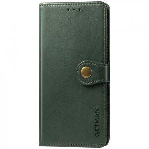 Кожаный чехол-книжка GETMAN Gallant (PU) для Samsung Galaxy A32 5G – Зеленый