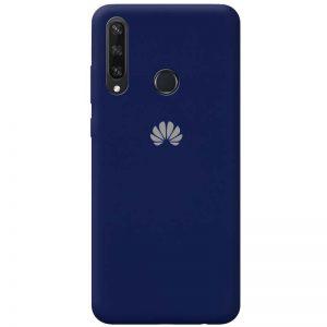Оригинальный чехол Silicone Cover 360 с микрофиброй для Huawei Y6P – Темно-синий / Midnight blue