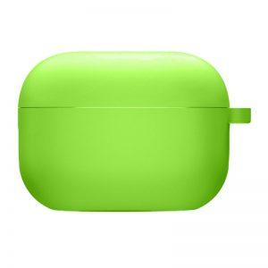 Силиконовый чехол для наушников с микрофиброй для Apple Airpods Pro – Салатовый / Neon green