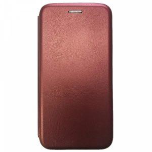 Кожаный чехол-книжка 360 с визитницей для Huawei Honor 20 / Nova 5T – Marsala