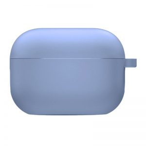 Силиконовый чехол для наушников с микрофиброй для Apple Airpods Pro – Лиловый / Lilac Pride