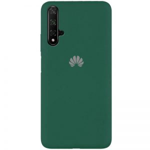 Оригинальный чехол Silicone Cover 360 с микрофиброй для Huawei Honor 20 / Nova 5T – Зеленый / Pine Needle