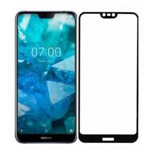 Защитное стекло 3D (5D) Full Glue Armor Glass на весь экран для Nokia 7.1 – Black