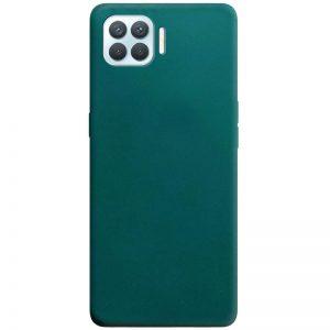 Матовый силиконовый TPU чехол для Oppo A73 –  Зеленый / Forest green