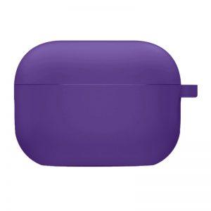 Силиконовый чехол для наушников с микрофиброй для Apple Airpods Pro – Фиолетовый / Ultra Violet