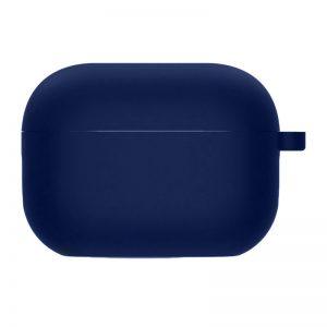 Силиконовый чехол для наушников с микрофиброй для Apple Airpods Pro – Темно-синий / Midnight blue