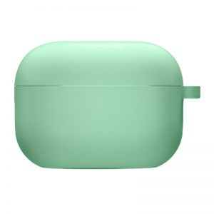 Силиконовый чехол для наушников с микрофиброй для Apple Airpods Pro – Зеленый / Spearmint