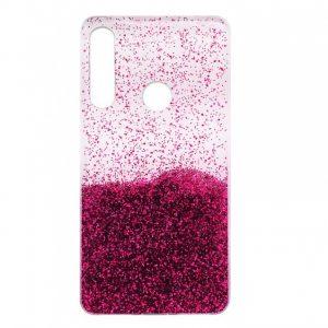 Cиликоновый чехол с блестками Fashion для Huawei P40 Lite E / Y7P (2020) – Pink