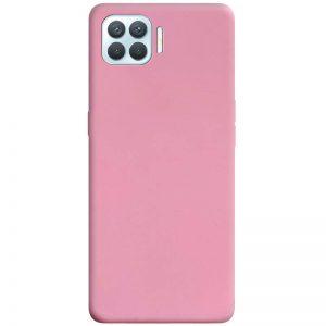 Матовый силиконовый TPU чехол для Oppo A73 – Розовый