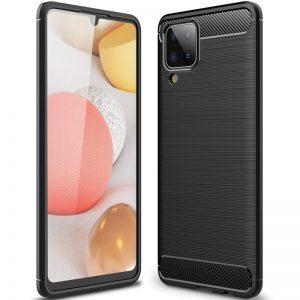 Cиликоновый TPU чехол Slim Series для Samsung Galaxy A12 – Черный