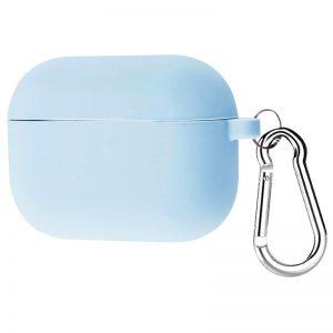 Силиконовый чехол для наушников + карабин для Apple Airpods Pro – Голубой / Lilac Blue