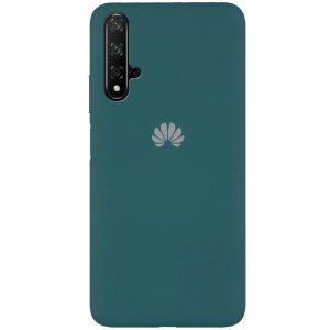 Оригинальный чехол Silicone Cover 360 с микрофиброй для Huawei Honor 20 / Nova 5T – Зеленый / Pine green