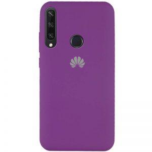 Оригинальный чехол Silicone Cover 360 с микрофиброй для Huawei Y6P – Фиолетовый / Grape