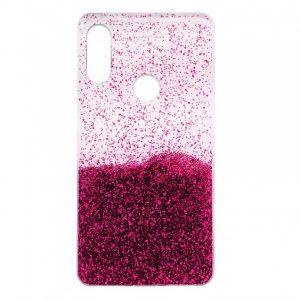 Cиликоновый чехол с блестками Fashion для Huawei P Smart Plus / Nova 3i – Pink