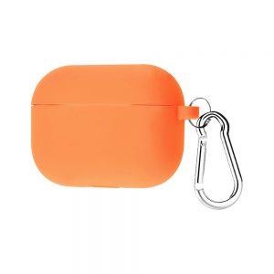 Силиконовый чехол для наушников + карабин для Apple Airpods Pro – Оранжевый / Vitamin C
