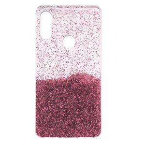 Cиликоновый чехол с блестками Fashion для Huawei P Smart Plus / Nova 3i – Light pink