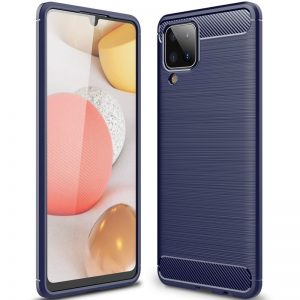 Cиликоновый TPU чехол Slim Series для Samsung Galaxy A12 – Синий