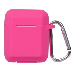 Чехол для наушников Plain Ling Angle Case для Apple Airpods – Rose Red