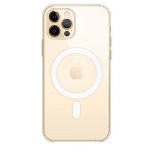 Чехол MagSafe для для Iphone 12 Pro  —  Прозрачный