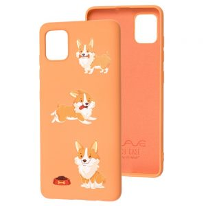 TPU чехол WAVE Fancy Case для Samsung Galaxy Note 10 Lite – Corgi / Peach
