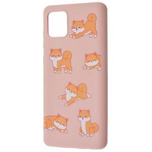 TPU чехол WAVE Fancy Case для Samsung Galaxy Note 10 Lite – Playful cat / Pink sand