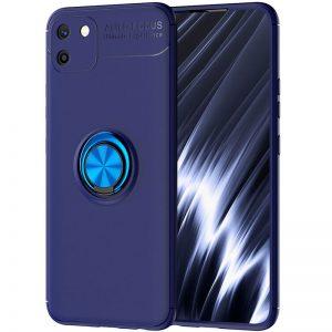 Cиликоновый чехол Deen ColorRing c креплением под магнитный держатель для Realme C11 (2020) – Синий